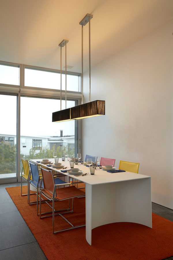 Modern dining room in the city